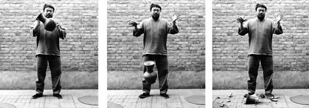 Ai weiwei dropping an urn