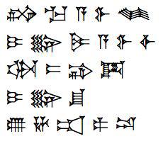 Classic Sumerian Cuneiform Script