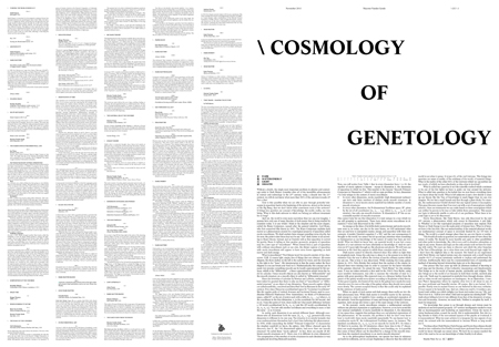 cosmology of genetology