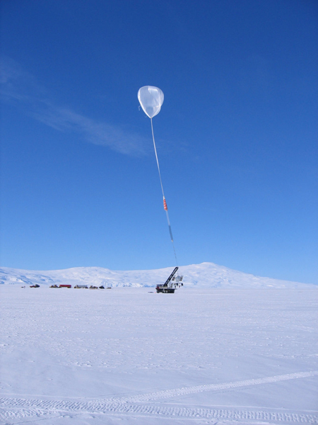 dark mater balloon antarctica